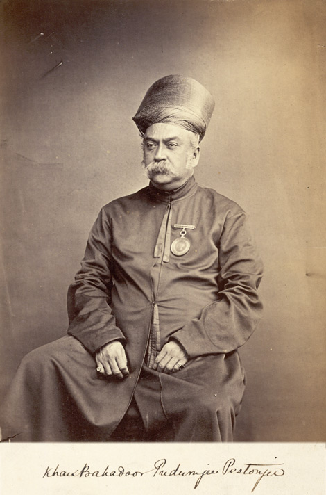 Studio portrait of Khan Bahadur Padanjee Pestonjee, Member of the Legislative Council, Bombay.